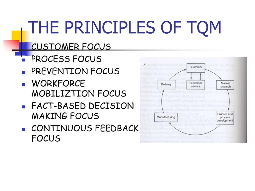 THE PRINCIPLES OF TQM