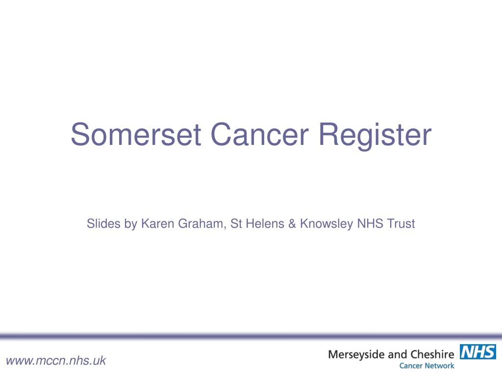 Somerset Cancer Register