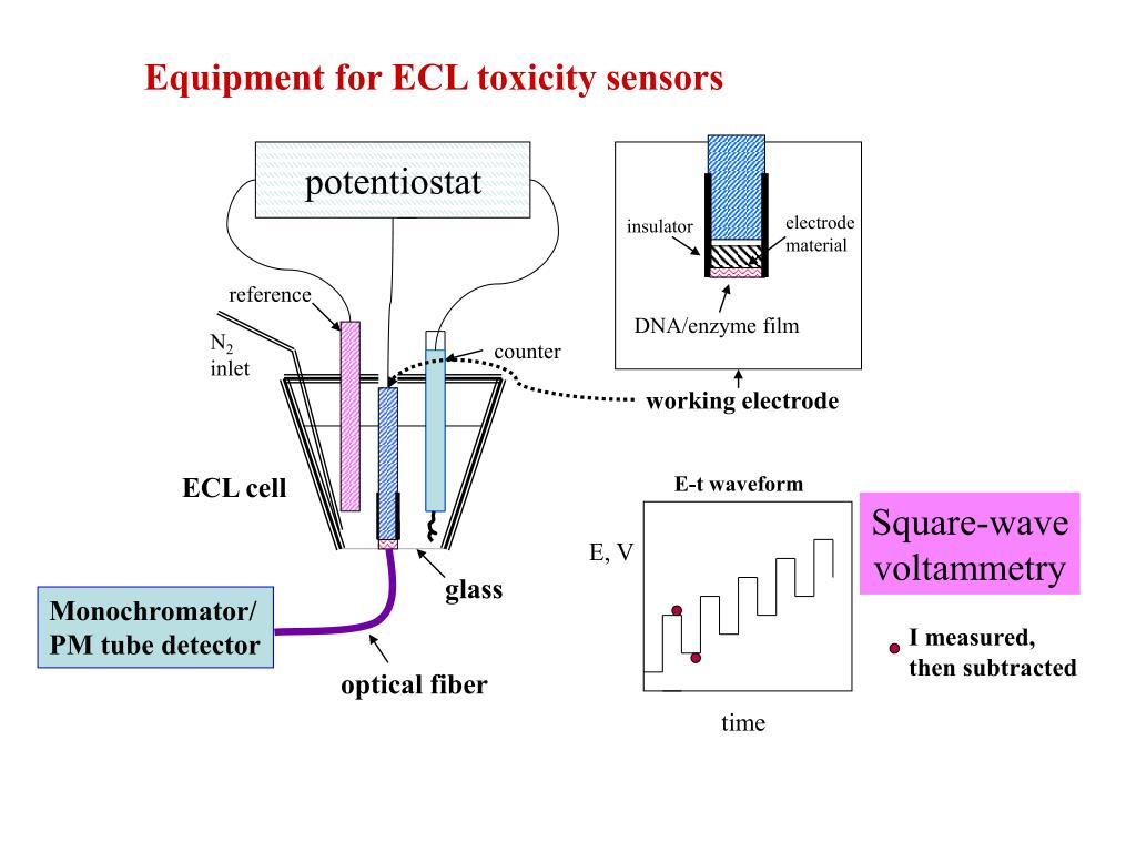 Equipment for ECL toxicity sensors