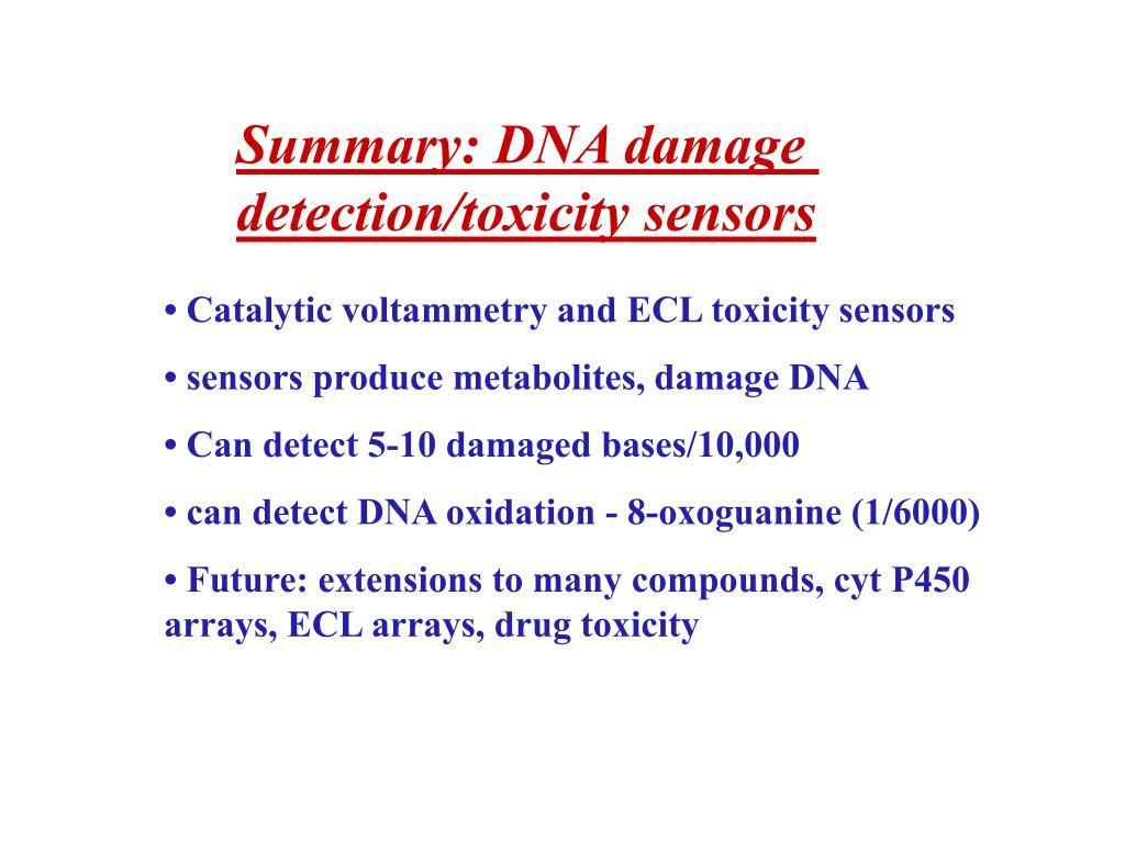 Summary: DNA damage