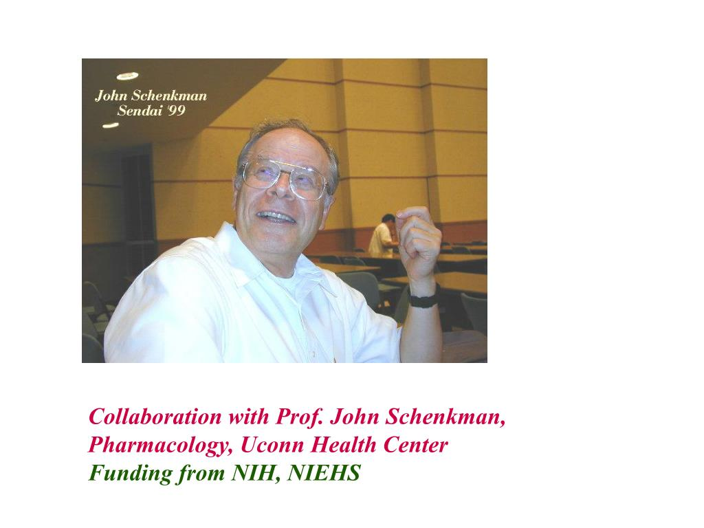 Collaboration with Prof. John Schenkman,