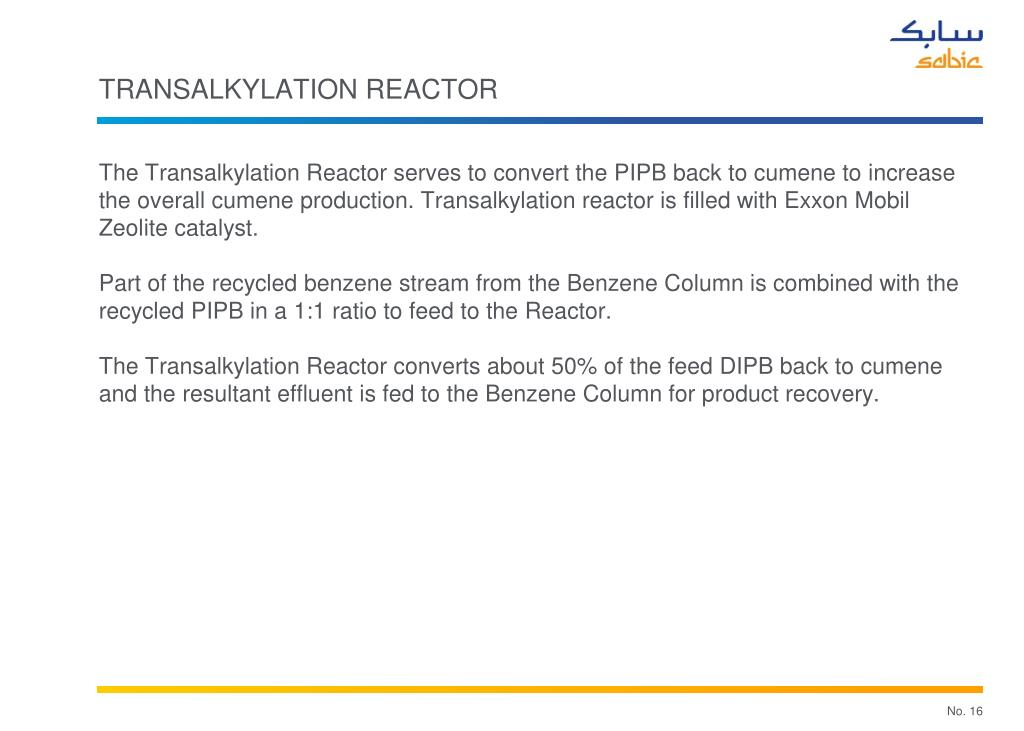 TRANSALKYLATION REACTOR
