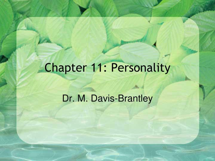 Chapter 11 personality