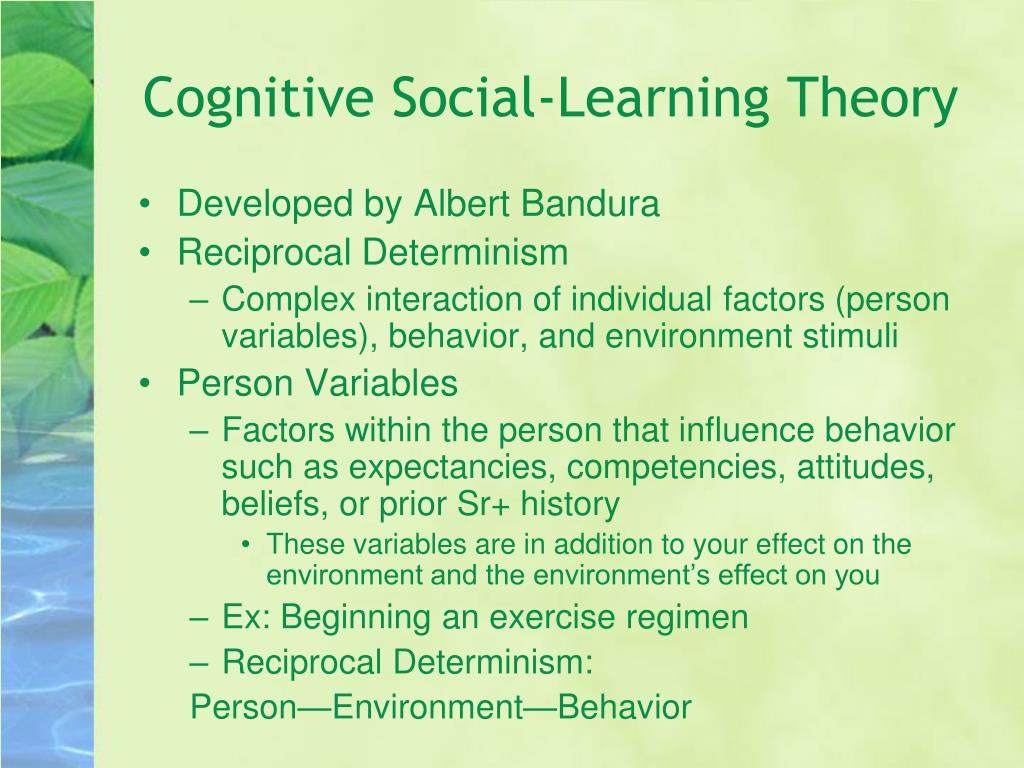 Cognitive Social-Learning Theory
