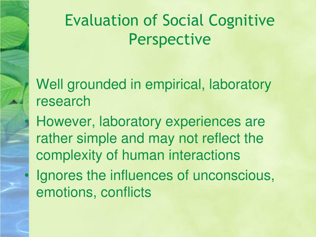 Evaluation of Social Cognitive Perspective