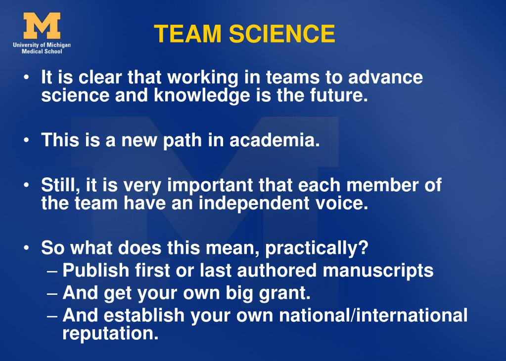 TEAM SCIENCE