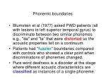phonemic boundaries