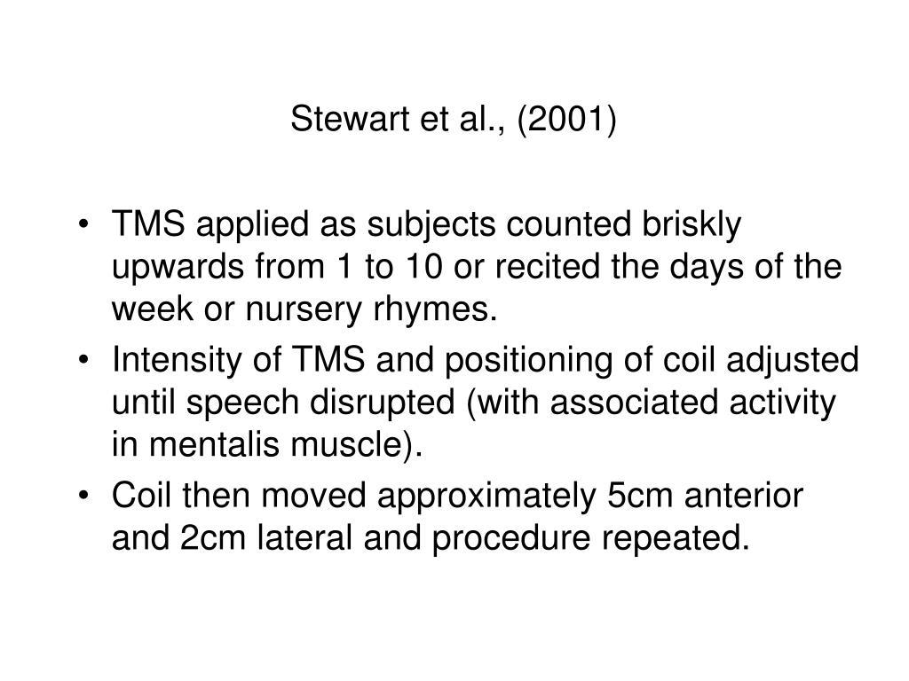 Stewart et al., (2001)