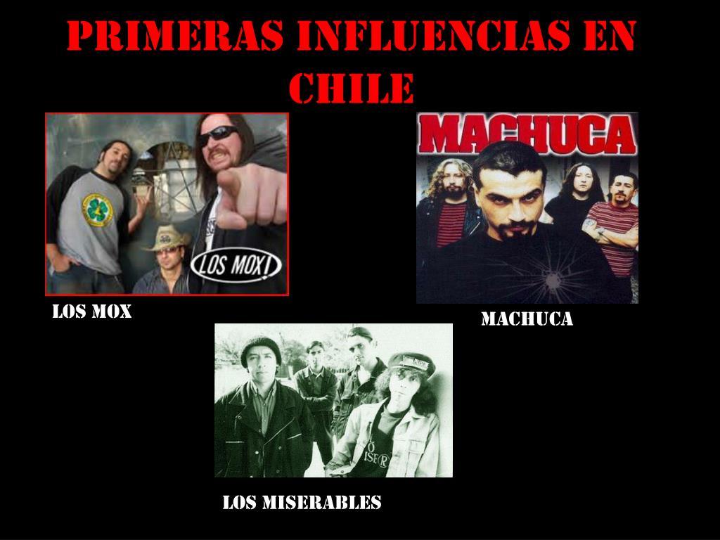 Primeras influencias en     Chile