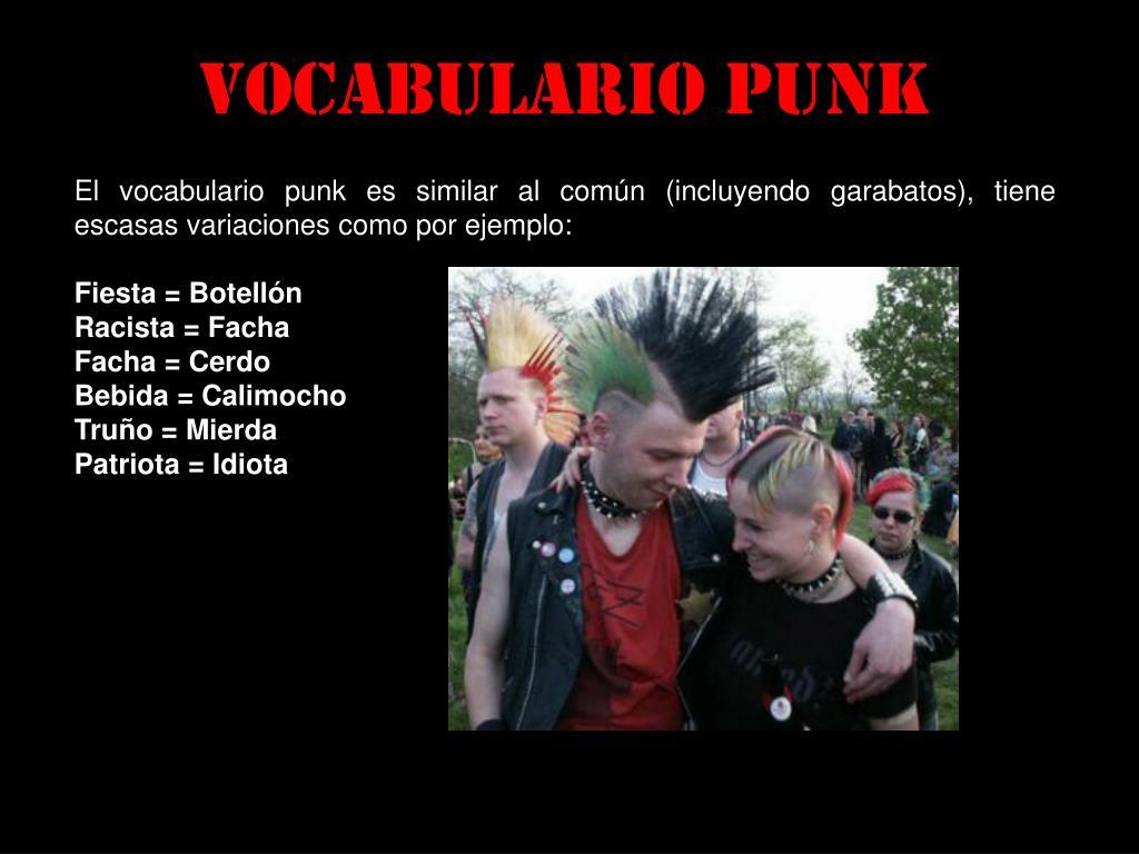 Vocabulario punk