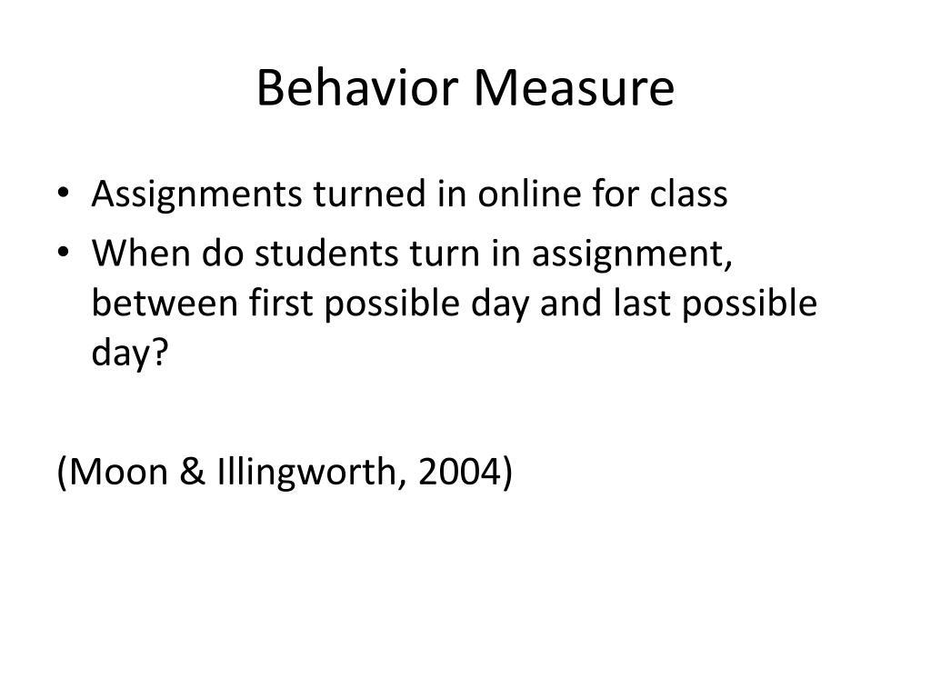 Behavior Measure