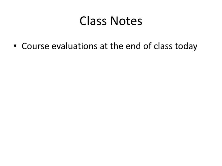 Class notes3