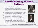 a brief history of deaf culture