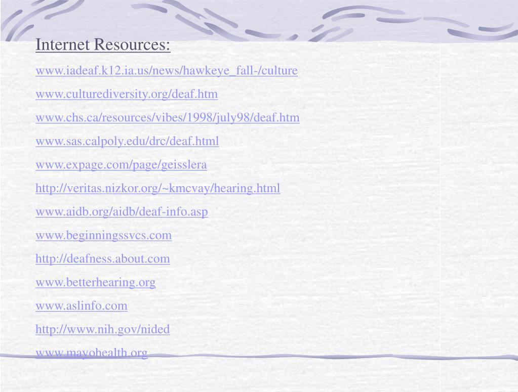 Internet Resources: