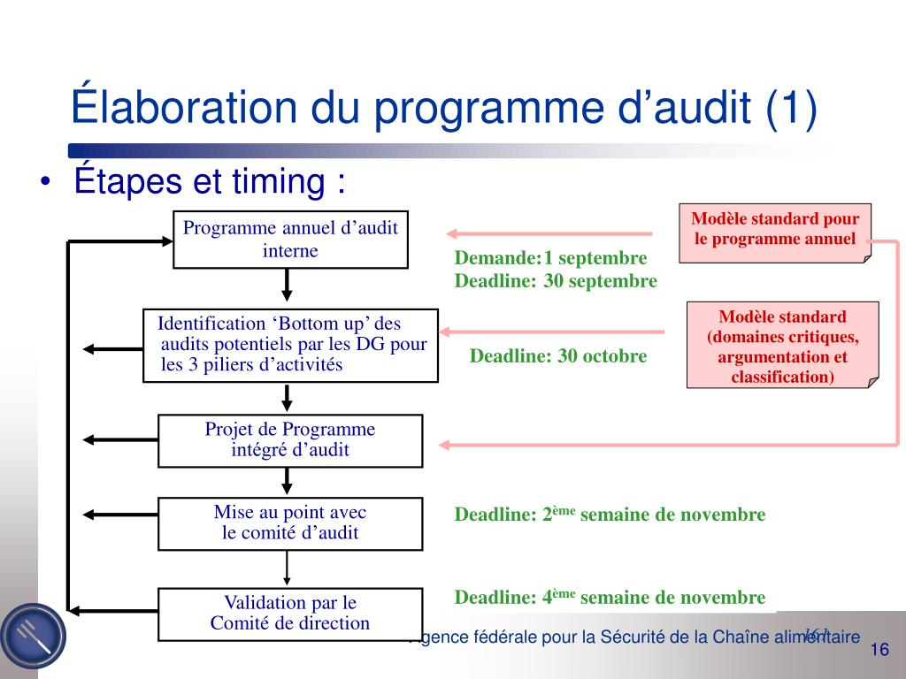 Élaboration du programme d'audit (1)
