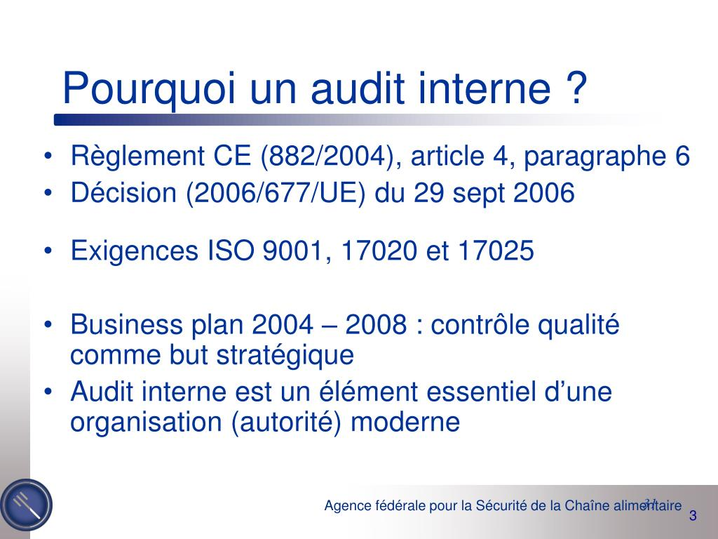Pourquoi un audit interne ?