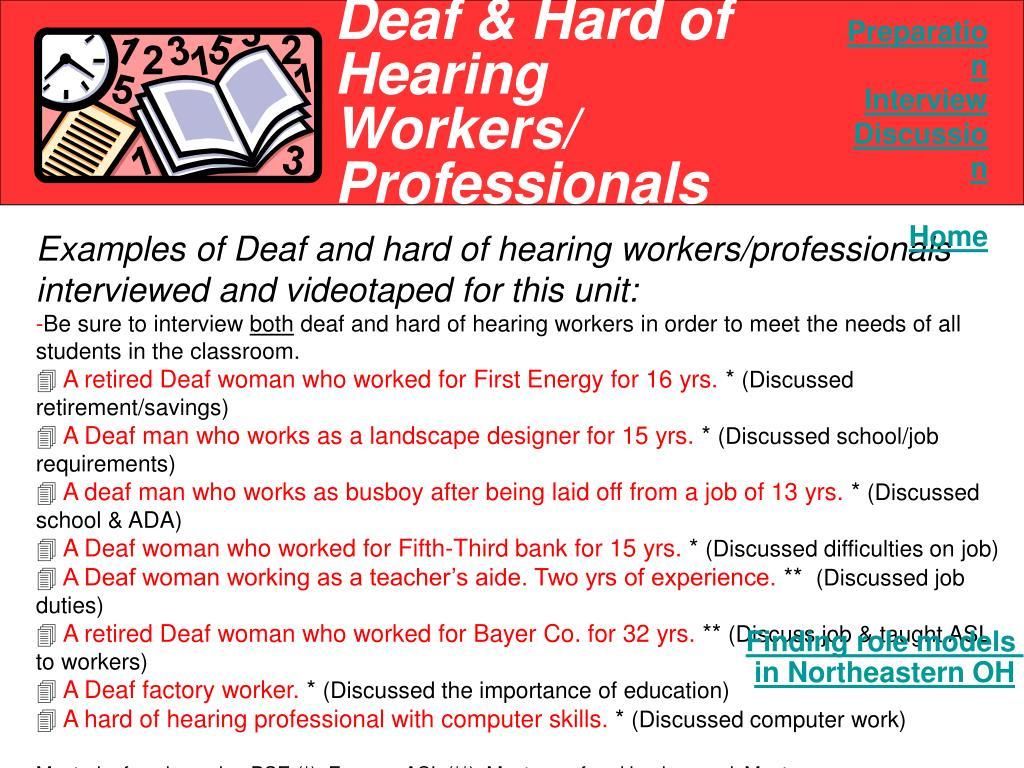 Deaf & Hard of