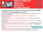 deaf hard of hearing workers professionals