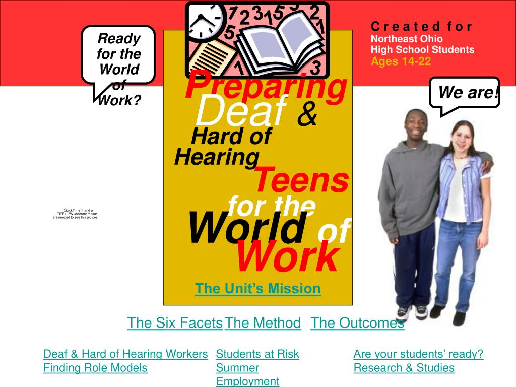 p reparing deaf hard of hearing teens for the world of work