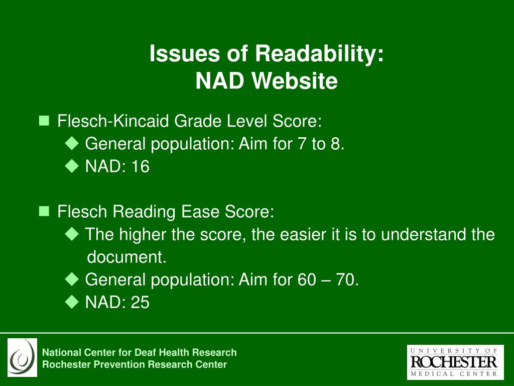 Issues of Readability: