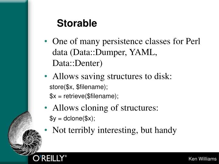 Storable
