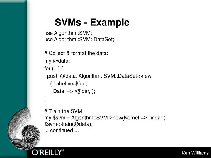 SVMs - Example