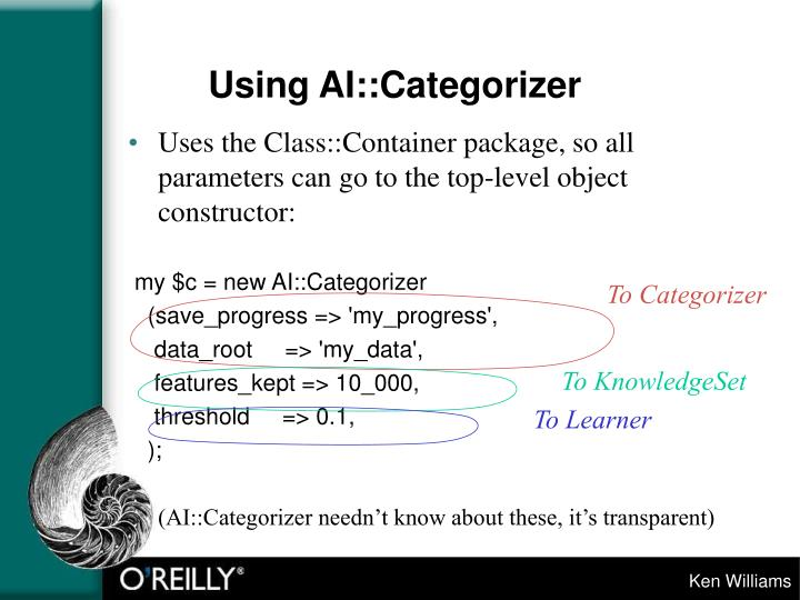 Using AI::Categorizer