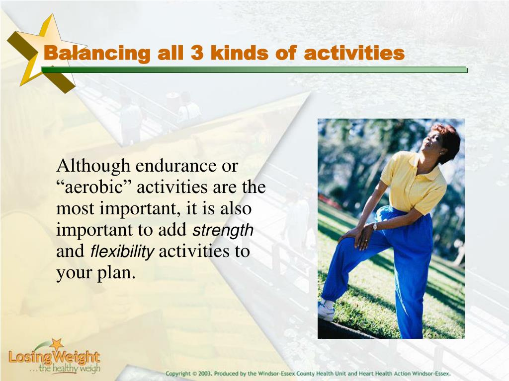 Balancing all 3 kinds of activities