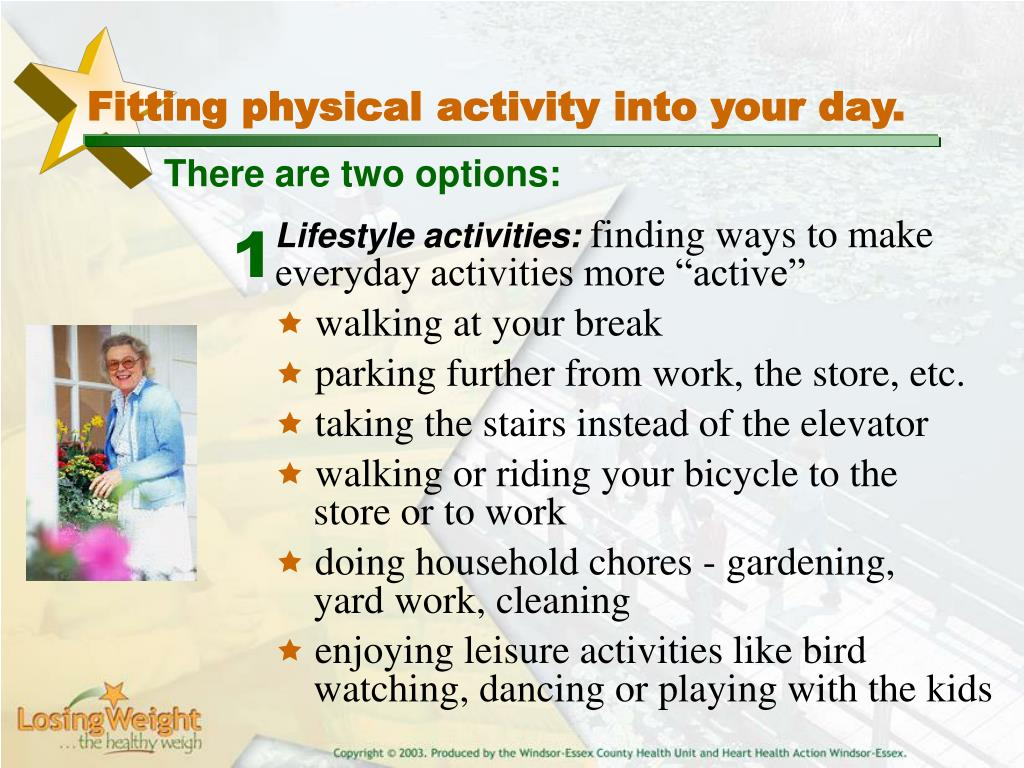 Fitting physical activity into your day.