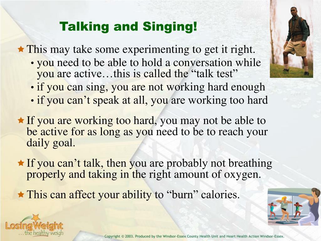 Talking and Singing!