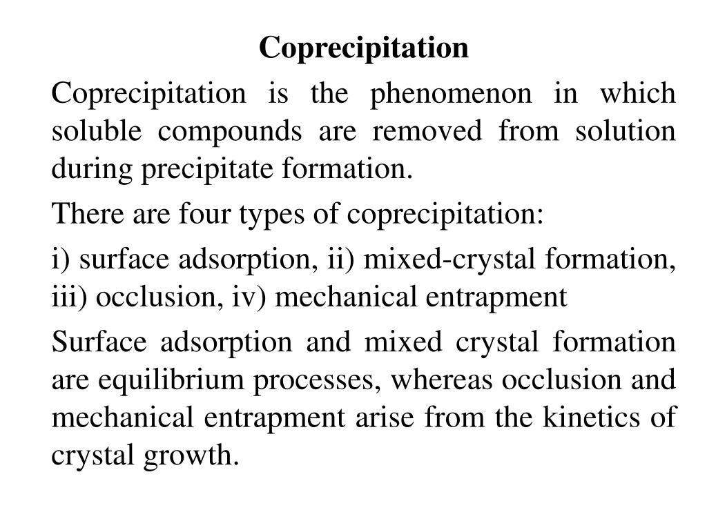 Coprecipitation