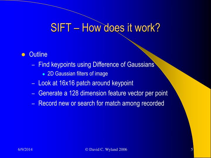 SIFT – How does it work?