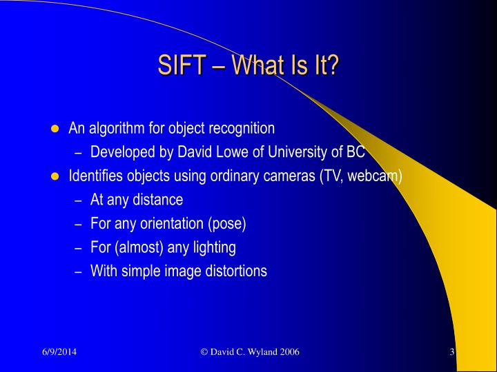 Sift what is it