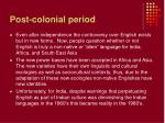post colonial period