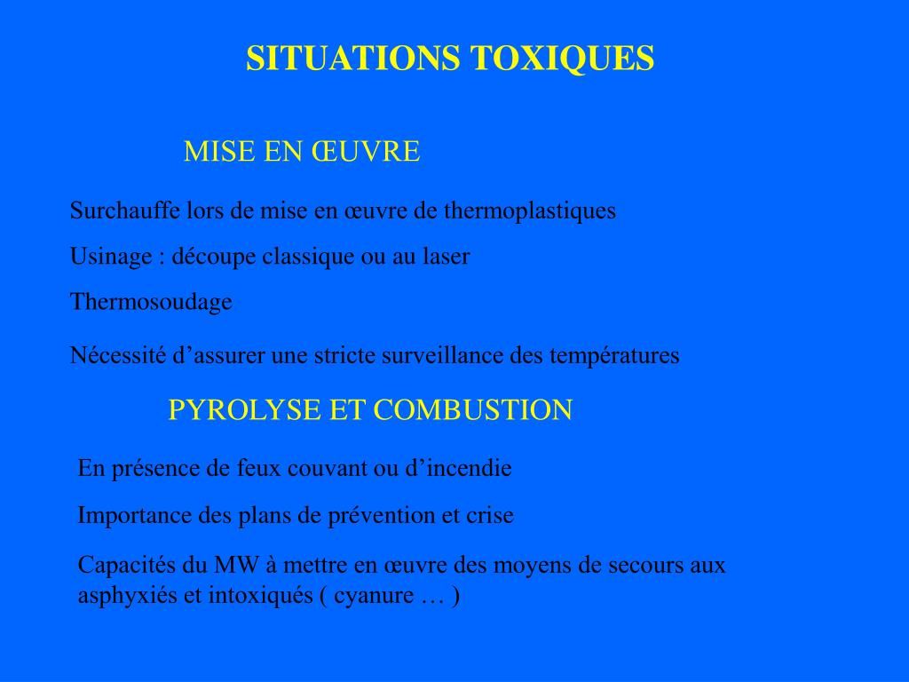 SITUATIONS TOXIQUES
