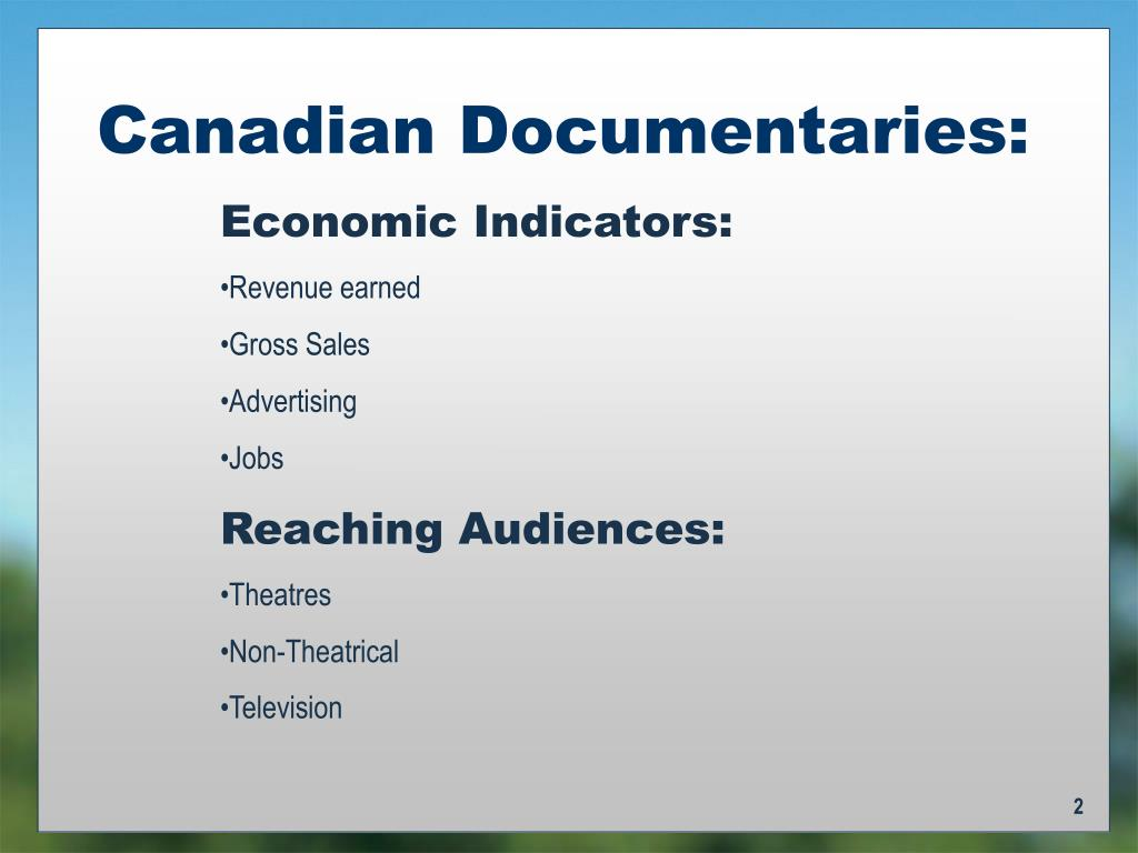 Canadian Documentaries: