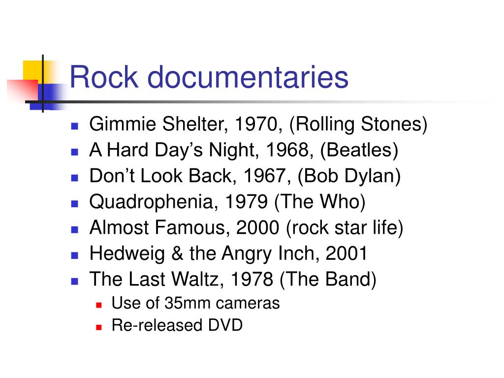 Rock documentaries