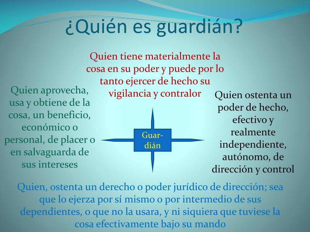 ¿Quién es guardián?