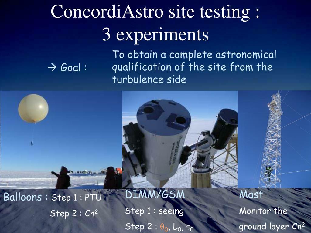 ConcordiAstro site testing :