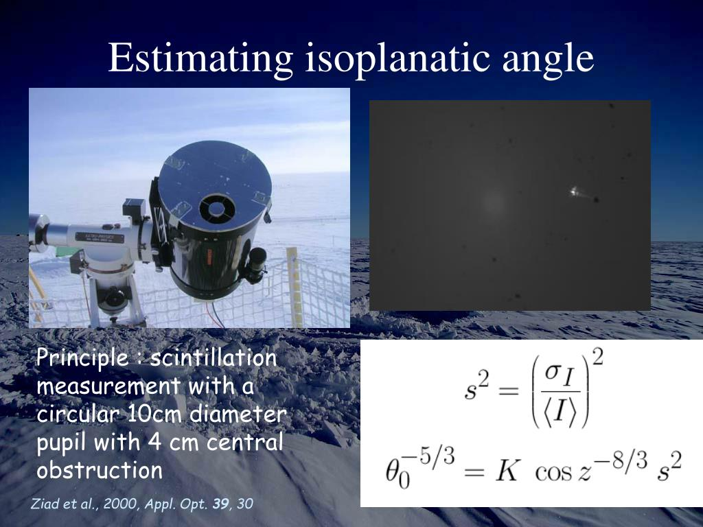 Estimating isoplanatic angle