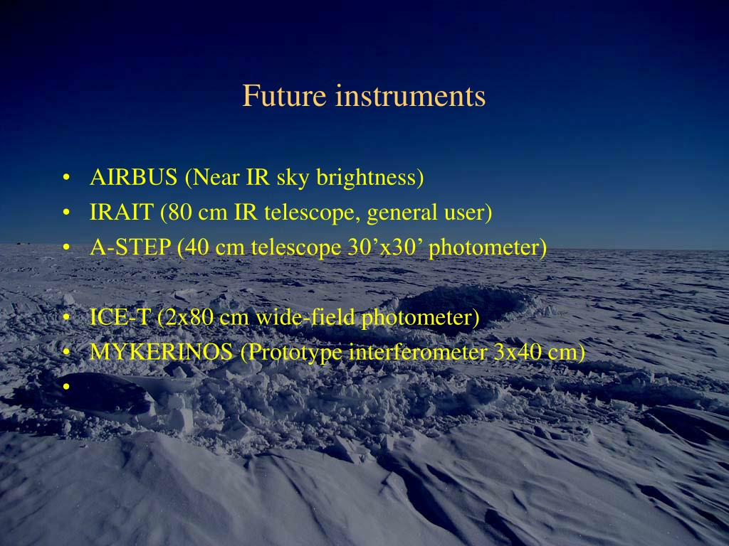 Future instruments