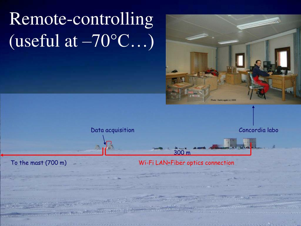 Remote-controlling (useful at –70°C…)
