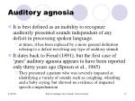 auditory agnosia
