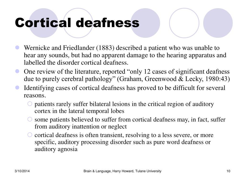 Cortical deafness