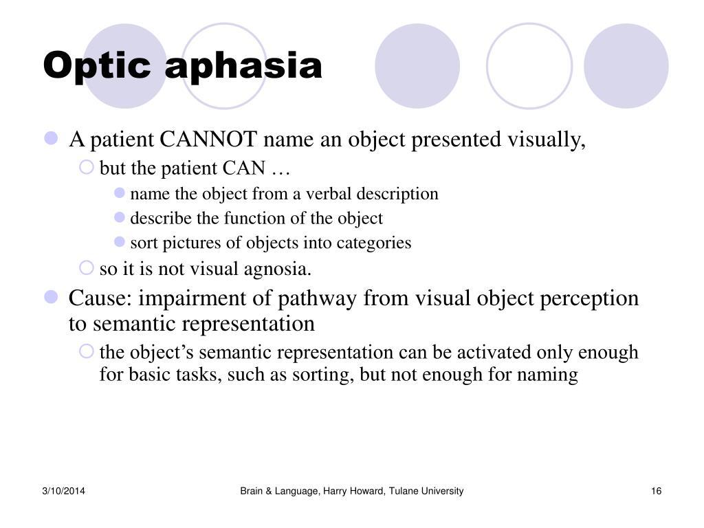 Optic aphasia