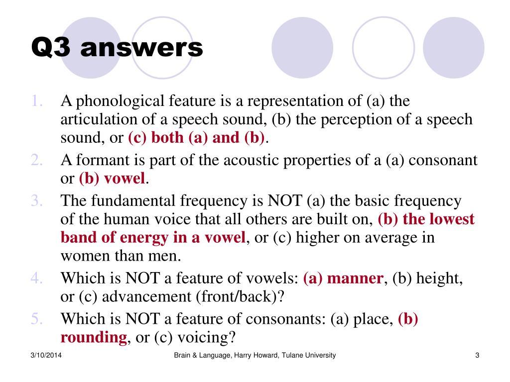 Q3 answers