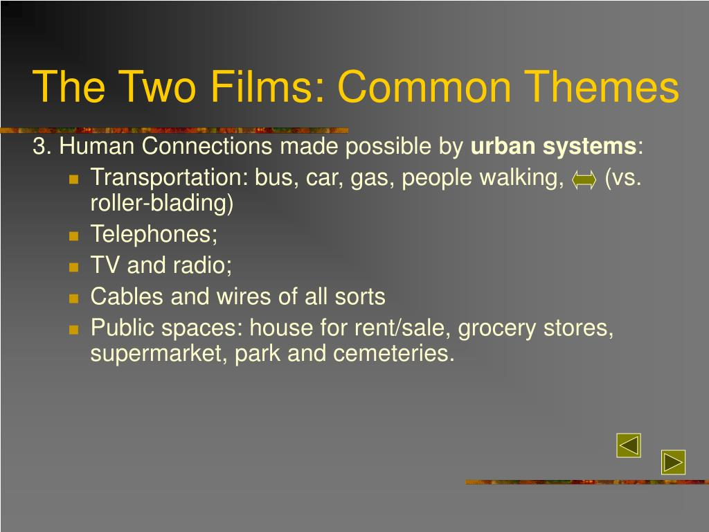 The Two Films: Common Themes