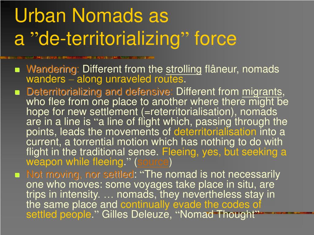 Urban Nomads as
