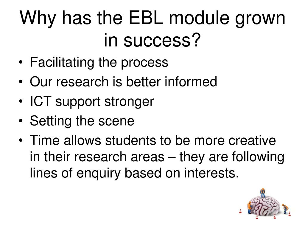 Why has the EBL module grown in success?