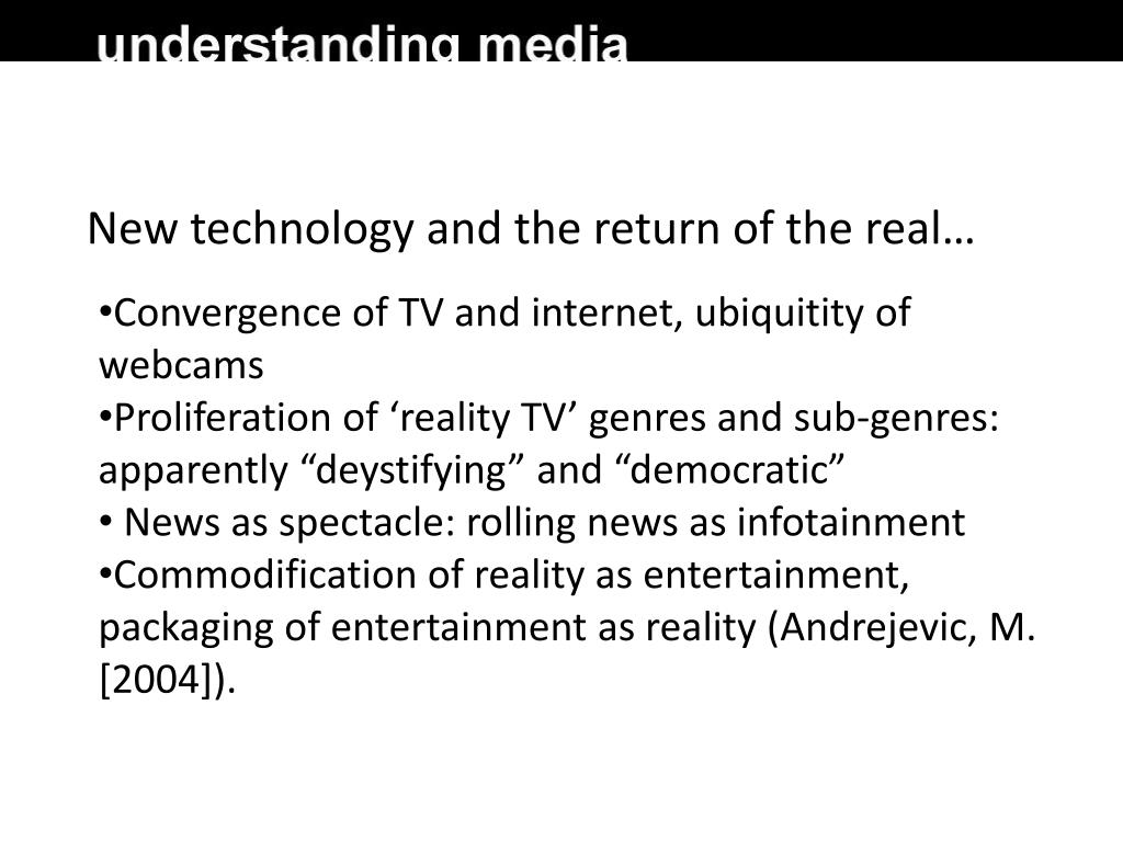 New technology and the return of the real…
